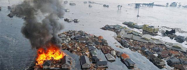 Destrucción causada por el tsunami en la localidad de Sendai. | AP