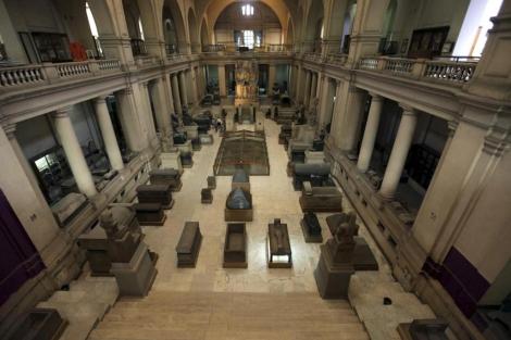 Vista general del Museo Egipcio de El Cairo tras su reapertura. | Khaled Elfiq / Efe
