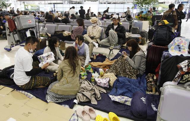 Espera en el aeropuerto de Narita, cercano a Tokio | AP