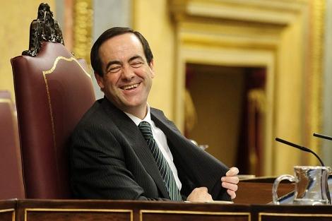 José Bono, hoy en el Congreso de los Diputados.   Bernardo Díaz
