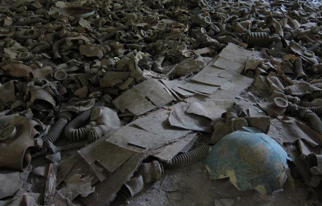 Máscaras anti-gas en Chernobil. | Quico Alsedo
