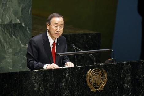 El secretario de Naciones Unidas, Ban Ki-moon.| Bebeto Matthews