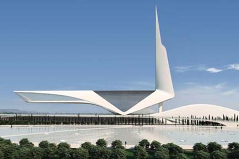 Imagen del proyecto que presentó Calatrava para Castellón. | E.M.