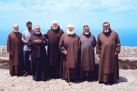 Los seis ermitaños de la Congregació de Sant Pau i Sant Antoni, antes de la muerte del hermano Bernat.