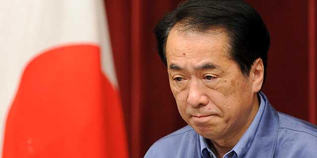 El primer ministro japonés, Naoto Kan, durante la rueda de prensa ofrecida el martes por la mañana. | Efe