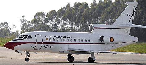 El avión oficial Falcon de las Fuerzas Armadas utilizado por Zapatero. | Eloy Alonso
