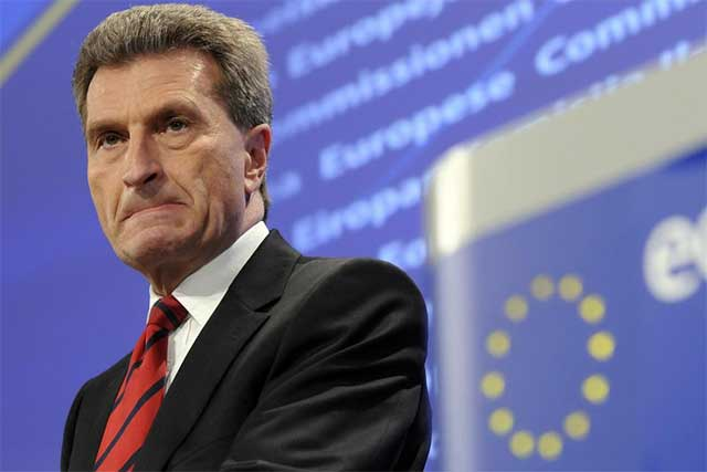El comisario de Energía, este miércoles en Bruselas.| afp