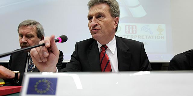 El comisario europeo, esta semana en Bruselas.   AP