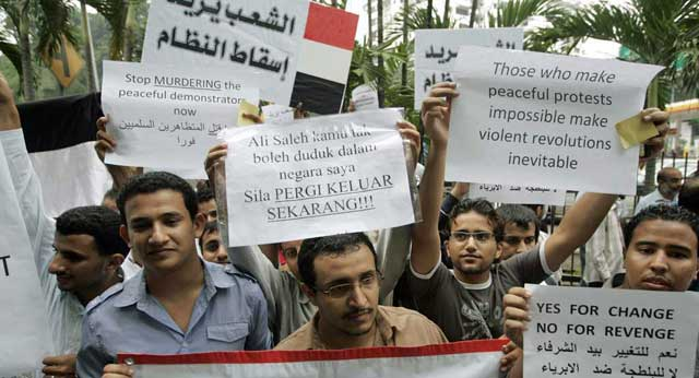 Imágenes de la manifestación en la que se han producido el tiroteo. | Ap