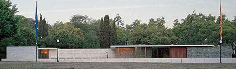 Pabellón Mies van der Rohe en Barcelona.
