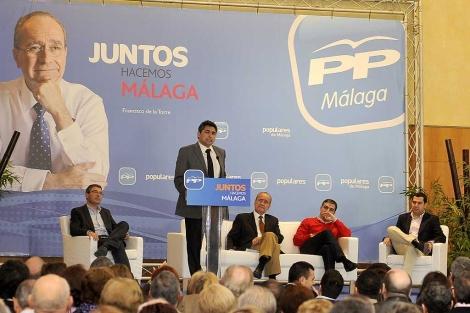 Juan José Cortés, este sábado, participando en la convención del PP en Málaga. | Nacho Alcalá