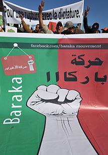 Defensores del movimiento Baraka.   Afp