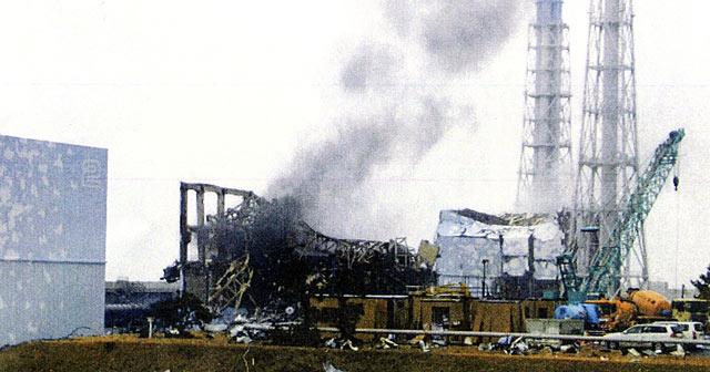 Columna de humo en reactor 3 de Fukushima. | Ap