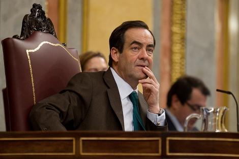 José Bono, durante el debate parlamentario. | Alberto Cuéllar