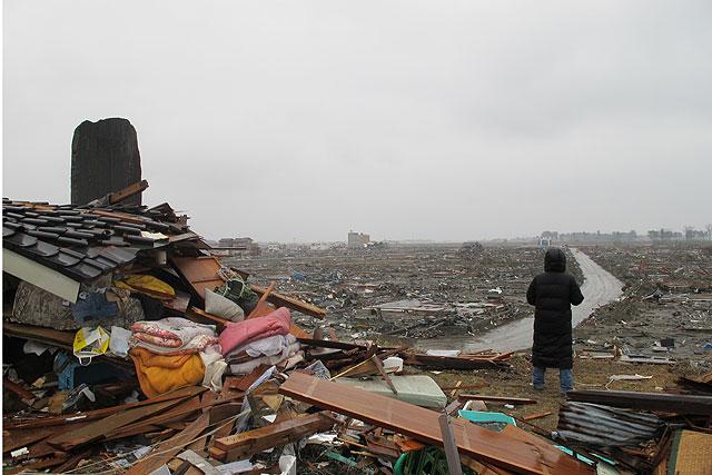Vista de la ciudad de Natori tras el devastador tsunami del 11-M. | David Jiménez