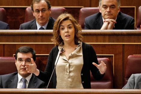 La portavoz parlamentaria del PP, Soraya Sáenz de Santamaría. | Alberto Cuéllar