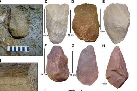 Algunos utensilios de piedra encontrados en Tamil Nadú. |Science