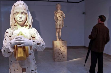 Parte de las obras de la muestra. | Fotos: César Minguela