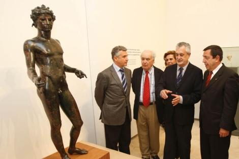Plata, Toral y Griñán en la inauguración del museo. | A. Pastor