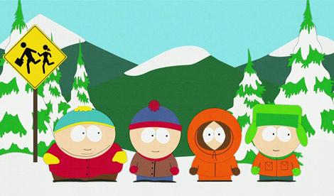 Los cuatro niños protagonistas de 'South Park'.