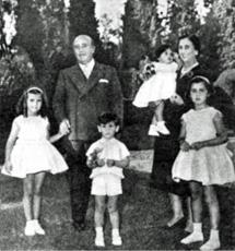 Foto de familia, en 1958.
