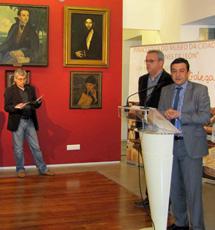 Santi Domínguez, en la inauguración. | A.G.
