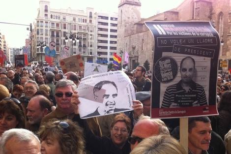 Manifestación contra la corrupción en Valencia. | V. Bosch
