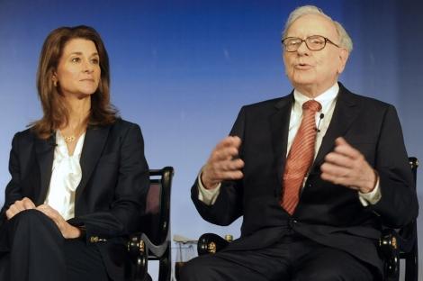 Buffett y Melinda Gates. | Afp