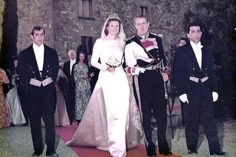 La condesa, el día de su enlace. | Archivo familiar