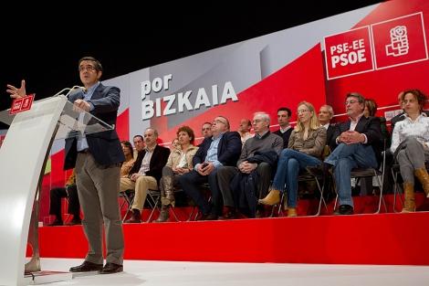 El lehendakari presenta a los candidatos del PSE en la Margen Izquierda. | Mitxi