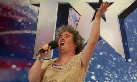 Susan Boyle, en la edición británica de 'Tienes talento'.