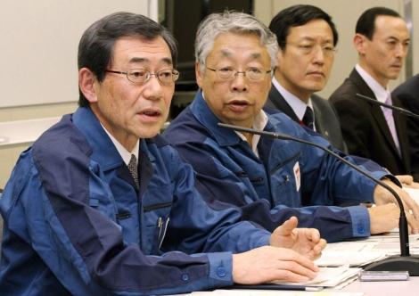 Masataka Shimizu, primero por la izquierda.   Afp
