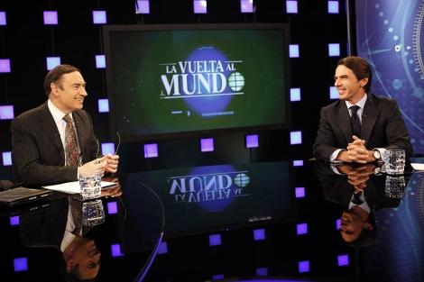 Pedro J. Ramírez y el ex presidente del Gobierno, José María Aznar. | Sergio Enríquez