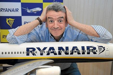 El excéntrico dueño de Ryanair, Michael O'Leavy. | AFP