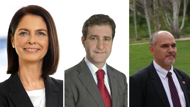 Paloma Adrados (PP), David Cierco (PSOE) y José Antonio Rueda (UPyD)