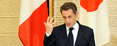 Sarkozy, este viernes en Tokio.   AFP