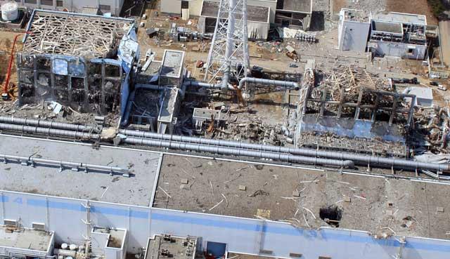 Dos reactores de la central, desde el aire.| Afp