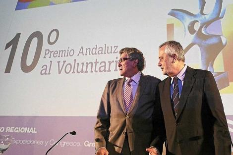 Luis Pizarro y José Antonio Griñán, juntos en una comparecencia pública. | Conchitina