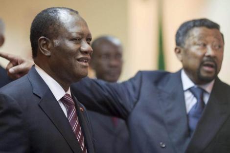 Alassane Ouattara en Addis Abeba, Etiopía, el pasado mes de marzo. | EFE
