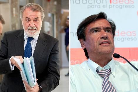 Los eurodiputados Jaime Mayor Oreja y Juan López Aguilar.