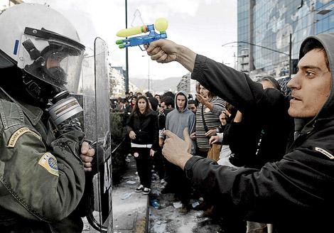 Manifestantes en Atenas. | Afp