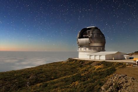 El Gran Telescopio de Canarias (GTC), en el Roque de los Muchachos. |IAC
