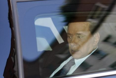 Silvio Berlusconi, llegando a los tribunales. | Reuters