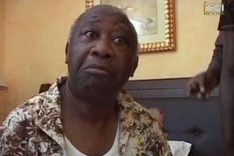 Gbagbo, tras ser detenido.| afp