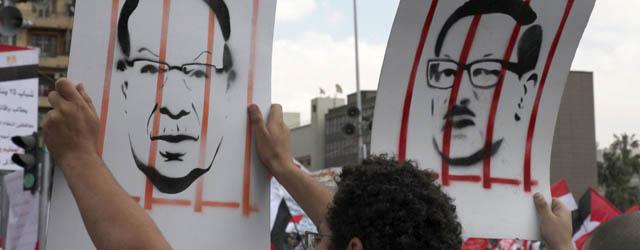 Egipcios durante una manifestación.   André Pain