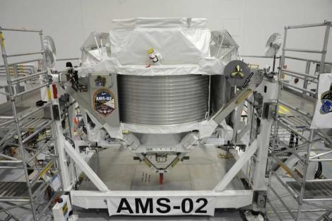 Instrumento AMS-02, que viajará a la ISS en abril.   M. Famiglietti
