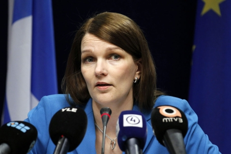 La candidata del Partido de Centro, Mari Kiviniemi. | Reuters
