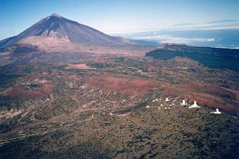 Vista del Observatorio del Teide.   Foto: Instituto Astrofísico de Canarias.