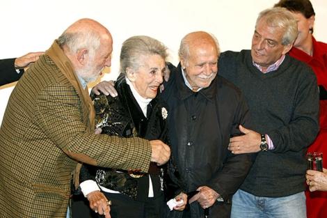 María Isbert durante un homenaje hace tres años. (Foto: EFE)