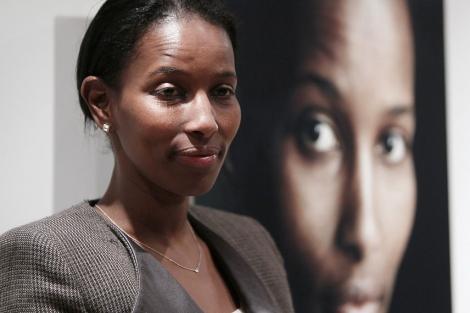 Ayaan Hirsi Ali, durante la presentación de 'Nómada'.   Efe